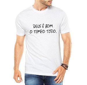Camiseta Gospel Cristão Deus é Bom Evangélica Masculina