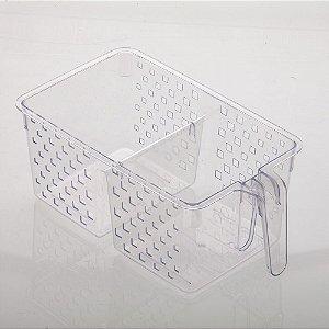 Organizador com Alça e Divisória Cristal | 34X19X14CM - 876