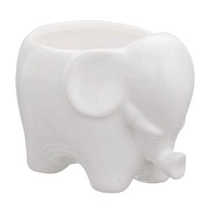 Mini cachepot elefante em cerâmica