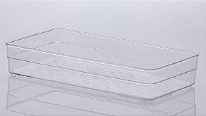 Organizador diamond 30 X15 X 5,2 cm cristal -1117
