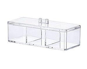 Organizador Cosméticos com Divisória 23 x 9 x 8,5 cm -1198