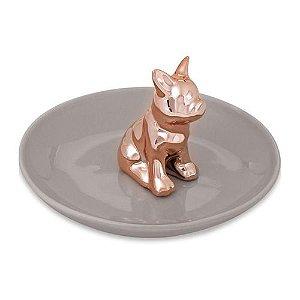 Porta bijoux cachorro em cerâmica