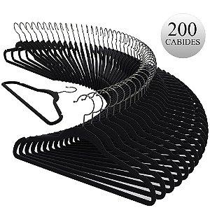 Kit Cabide Adulto Slim c/200 peças