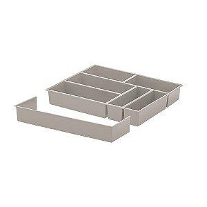 Organizador de Talheres com Extensor 40 X 33 X 6,5 cm Creme - 1366