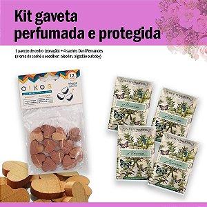 Kit gaveta perfumada e protegida