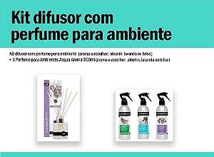 Kit difusor c/perfume para ambiente
