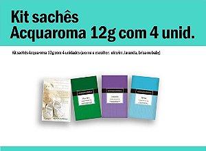 Kit sachês Acqua Aroma 12g c/4 unid.