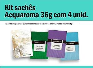 Kit sachês Acqua Aroma 36g c/4 unid.