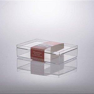 Organizador Multiuso c/tampa empilhável 25x17x6,7cm - 1309