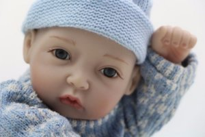 Bebê Reborn 100 % silicone Modelo pequeno 27cm - 2RUKTK8Z3