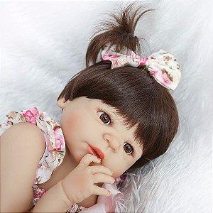 Boneca Bebe Reborn 55cm 100% Silicone - 9S5QFVKEY