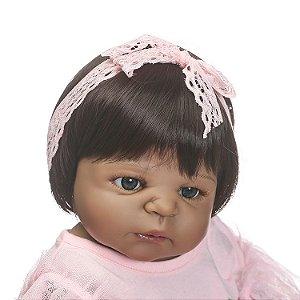 Boneca Bebe Reborn 55cm 100% Silicone - R5T67SQRY