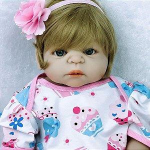 Boneca Bebe Reborn 55cm 100% Silicone - JAPGTNVWD