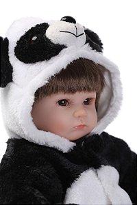 Boneca Bebe Reborn Larinha 43cm Panda - AKUJKWPMX