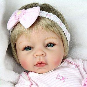 Bebê Reborn 55 Centímetros Loirinha - 7ALWTHZZA