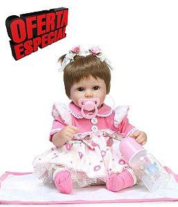 Bebe Reborn Menina 43 Centímetros Linda - RYG9A3BWT