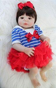 Bebê Reborn Princesa 55 Centimetro 100% Silicone - MV96T8SSG