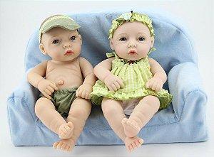 Gêmeos Menino e Menina Pequeno 100% Silicone - K3Y9LS5YP