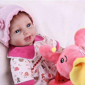 Bebê Realista 55 Centímetros Ursinho Brinde - B65JZT5K5