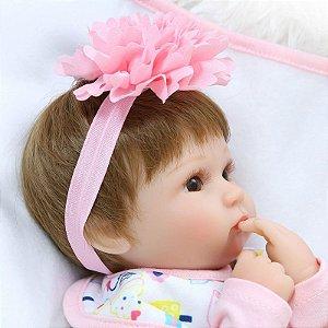 Boneca Realista Bebê 43 Centímetros - M4LLTF2D3