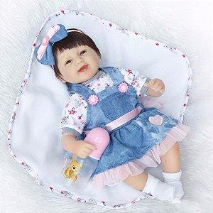 Boneca Menina Reborn Nenem 43 Centímetro - 2YATZLREM