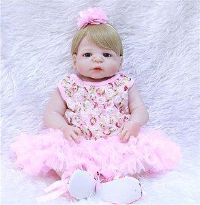 Bebê Reborn Loira 55 Centímetro 100% Silicone - 2RWQP2XTN
