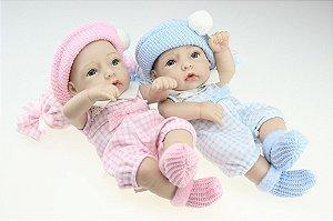 Bebês Gêmeos Modelo Pequeno 27 Centímetros - EYK3CRT42