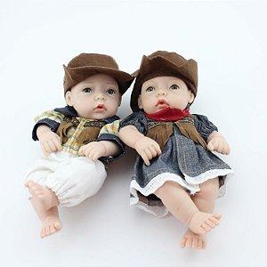 Bebês Gêmeos Modelo Pequeno 27 Centímetros - GBKMQJHYX