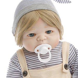 Bebê Reborn 100% Silicone 55 Centímetros - FRR58SNNG