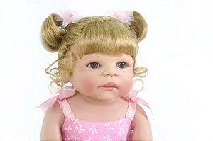 Bebê Reborn 55 Centímetros Realista Loirinha - 4665T4YD5