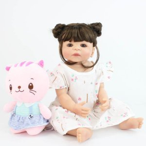 Reborn Bebê 100% Silicone Perfeita - X4E6SFW7G