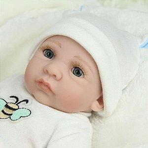 Bebê 100% Silicone Pode dar Banho Menino - S8QUEWX23