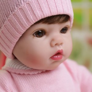 Menina Bebê Reborn 55 Centímetros Sucesso em Vendas - 7BHDXSSVF