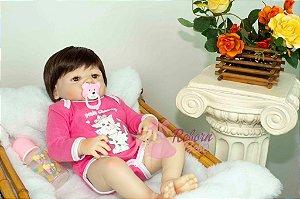 Roupa Reborn Body Rosa Gatinha Para Bonecas de 50cm a 55cm - JRUYY8YG7
