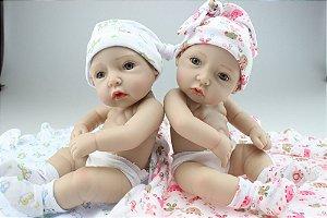 Gêmeos Lindos 100% Silicone 27 Centímetros - W4FC3LLD5
