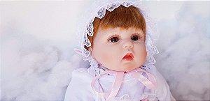Linda Bebê Reborn 43 Centímetros - 52MRT3XGN