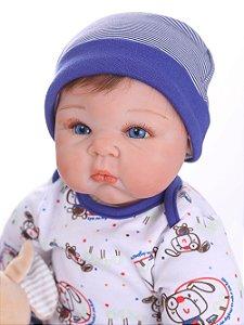 Reborn Bebê Menino 55 Centímetros Fofura - 78P9ZPYGB