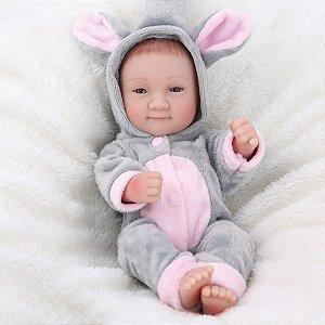 Mini Reborn Bebê 100% Silicone - QWPP8FWUG
