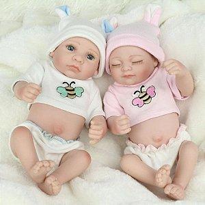 Mini Reborn Gêmeos 27 Centímetros - JYDYX6FVT