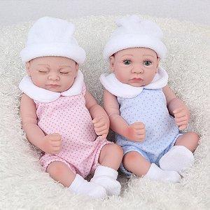 Mini Reborn Gêmeos 27 Centímetros - 6HMX27CR6