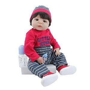 Lindo Bebê Reborn Menino 100% Silicone - 74A8FJK8Q