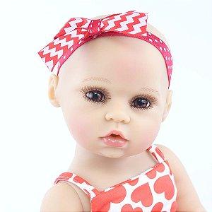 Linda Bebê Reborn 48 Centímetros 100%¨Silicone Lançamento