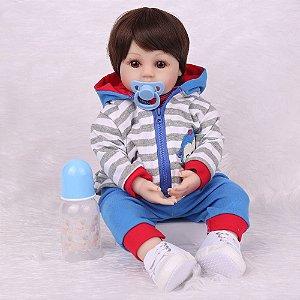 Lindo Bebê Reborn 48 Centímetros Corpo 100% Silicone Pode dar Banho