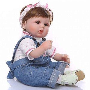 Boneca Reborn Lançamento 2021 Corpo de Tecido Perfeita