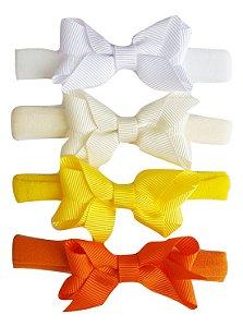 Kit Faixinha Analu - (Branco, Off-White, Amarelo e Laranja)