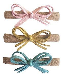 Kit faixinha Nina ( Rosa, Bege e Azul)