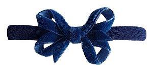Faixinha - Tiarinha Lacinho Veludo P ( 5 x 2,5 cm)