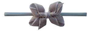 Faixinha - Tiarinha Laço Veludo M (7 x 4,5 cm)