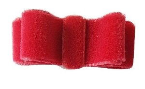 Bico de Pato Lacinho Chanel Veludo (5 x 1,7 cm)