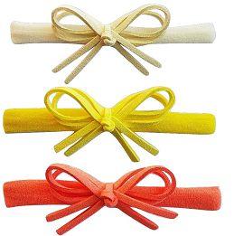 Kit faixinha Nina (OffWhite, Amarelo e Laranja)